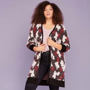 Lane Bryant Cardigan Duster 22/24 Abstract Print